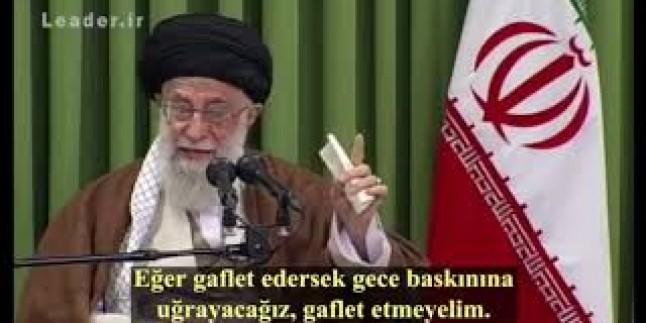 """İmam Ali Hamaney: """"Düşmana karşı uyumayalım, gaflete düşmeyelim"""" -2017-"""