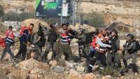Siyonist İsrail Batı Şeria'da 'Gazze'yle dayanışma yürüyüşüne Müdahele Etti