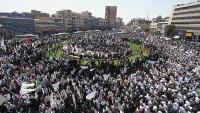 Tahran'da güvenliğe destek yürüyüşü düzenlendi