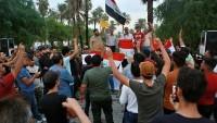 Irak güvenlik güçleri göstericileri korumak için meydana indi