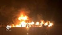 Necef'te İran konsolosluğu yeniden ateşe verildi