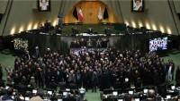 İran meclisinde kahrolsun Amerika ve İsrail sloganı yankılandı