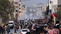 İhanet Anlaşmasına Karşı Çıkan Filistinliler Siyonist Askerlerle Çatıştı