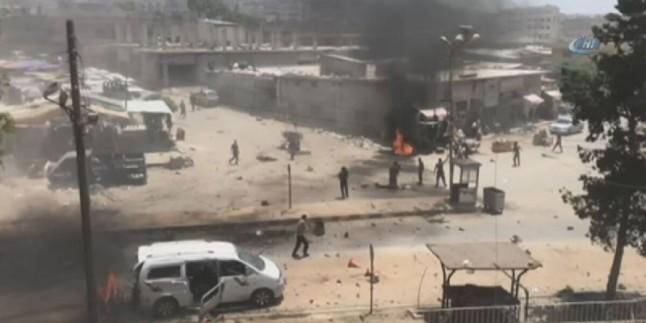 Afrin'de patlama! 8 sivil hayatını kaybetti
