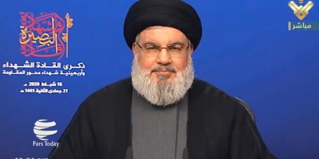 Nasrullah: ABD, bölgedeki tüm savaşlardan sorumludur
