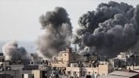 Siyonist İsrail'den Gazze'ye saldırı