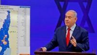 """Siyonist Netanyahu: Batı Şeria'dan parçaları eklemek üzere haritayı düzenlemeye başladık"""""""