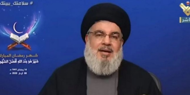 Seyyid Hasan Nasrullah Lübnan'ı Sadrı İslam'da 'Ebu Talib Deresi'nin İçinde Bulunduğu Şartlara Benzetti