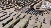 Suriye'nin Homs eyaletinde teröristlere ait silahlar ele geçirildi