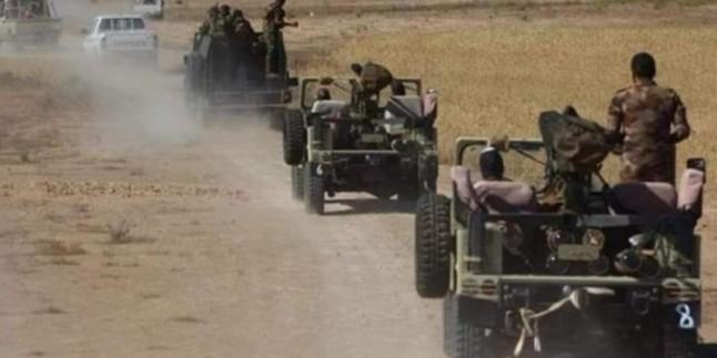 Irak'ın batısındaki Haşdi Şabi Mücahidlerinden IŞİD teröristlerine karşı operasyon