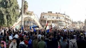 Haseke'de Türkiye'nin işgalciliğine karşı gösteri yapıldı