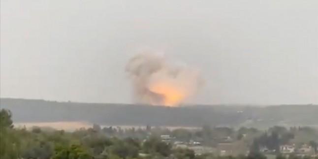 İşgal topraklarında füze fabrikasında dev patlama meydana geldi