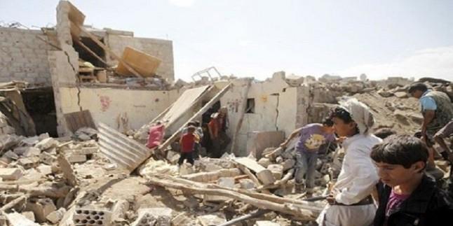 Suud Rejiminden Yemen'e hava saldırıları