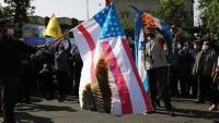 Tebriz'de Filistin bayrağı taşındı; ABD-İsrail bayrağı yakıldı