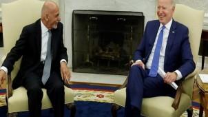 Biden, Afganistan Cumhurbaşkanı Gani'yle görüştü