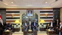 Emir Abdullahiyan, Şam'da Filistinli grupların liderleriyle görüştü