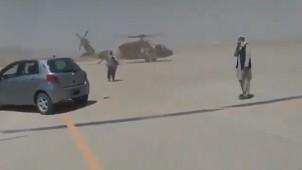 Taliban Amerikan helikopterlerini uçurttu