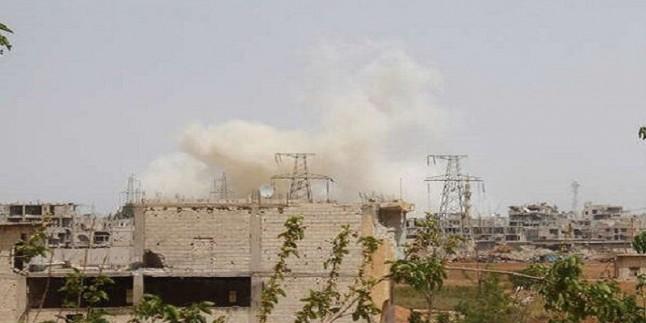 Suriye ordusu Deraa'da teröristlerin karargahını hedef aldı