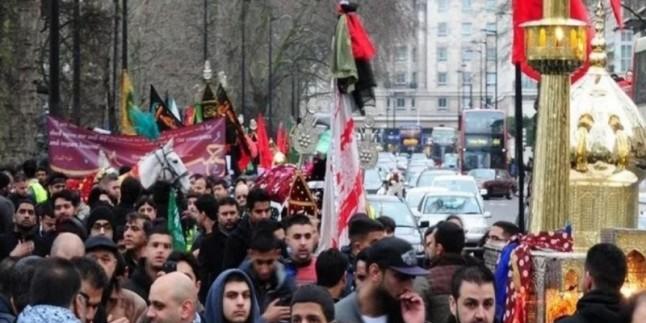Londra'da Hüseyni (S) Erbain yürüyüşü