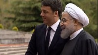 İran Cumhurbaşkanı Ruhani, İtalya Başbakanı'nı karşıladı
