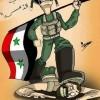 Karikatür: Suriye Ordusu, Vatan Haini Siyonist İsrail Uşağı ÖSO'yu Ezdi