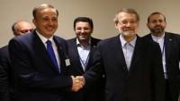 İran ve Suriye meclis başkanları Bağdat'ta bir araya geldiler