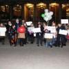 Londra'da İranlılar'dan Amerika'ya karşı vize eylemi