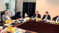 İran Millet bankasıyla Türkiye Halk Bankası Genel Müdürleri Görüştü
