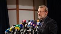 """Laricani: """"Direniş ekonomisi, girişim ve amel"""" sloganının tahakkuku için bütün İran halkının çalışması gerek"""