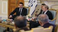 Makedonya dışişleri bakanı İran meclis başkanı Laricani'yle görüştü