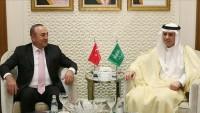 Türkiye ve Arabistan dışişleri bakanları arasında görüşme