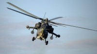 Suriye'nin Humus kentinde bir Rus savaş helikopteri düştü