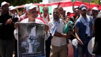 Londra'da Filistinli Esirlere Destek Gösterisi
