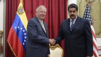 Venezüella Cumhurbaşkanı Nicolas Maduro'nun Amerika özel temsilcisini kabul etmesi