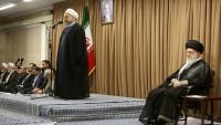 Ruhani'nin, devlet sorumlularının İslam inkılabı rehberiyle görüşmesindeki konuşması