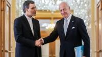 Caber Ensari ve De Mistura Astana'da Suriye'yi görüştüler