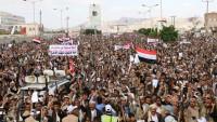 Binlerce Yemenli Suudi Amerika'nın Yemen'deki cinayetlerini sürdürmesini kınadı