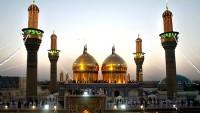 Kazımeyn'de Haremeyni İmameyni türbesinin altın işlemeli minaresi hizmete açıldı