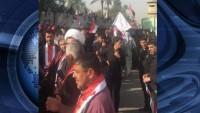 Bağdat'ta Türkiye Büyükelçili önünde büyük gösteri