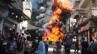 Halep'te IŞİD'e ait silah deposunda patlama