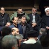 Ruhani'nin katılmasıyla Ayetullah Haşimi'ye veda töreni
