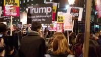 Londra'da ABD karşıtı gösteri