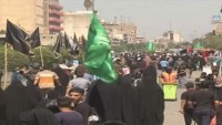 Ehlibeyt İmamlarından İmam Musa Kazım (as)ın şehadet yıl dönümü için Bağdat'ta milyonluk ziyaretçi akını
