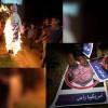 Gazze'de ABD bayrağı ve Trump'ın kuklası ateşe verildi