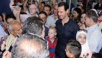 Suriye Cumhurbaşkanı Esad'dan başkent Şam'da sürpriz ziyaret