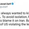 Zarif: Trump her zaman nükleer anlaşmayı ortadan kaldırma peşinde olmuştur