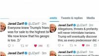 Zarif: Tehdit, suçlamalar ve saygısızlık hiç bir zaman İran'ı teslim alamaz