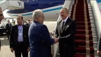 Azerbaycan Cumhurbaşkanı Tahran'a gitti