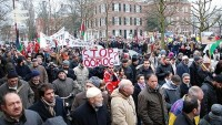 Hollanda'da siyonist rejim karşıtı gösteri