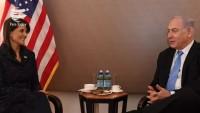 Netanyahu'dan ABD'li Nikki Halley'e övgüler !